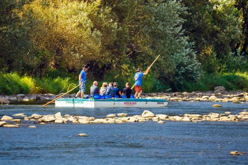 Boating down the Poprad valley